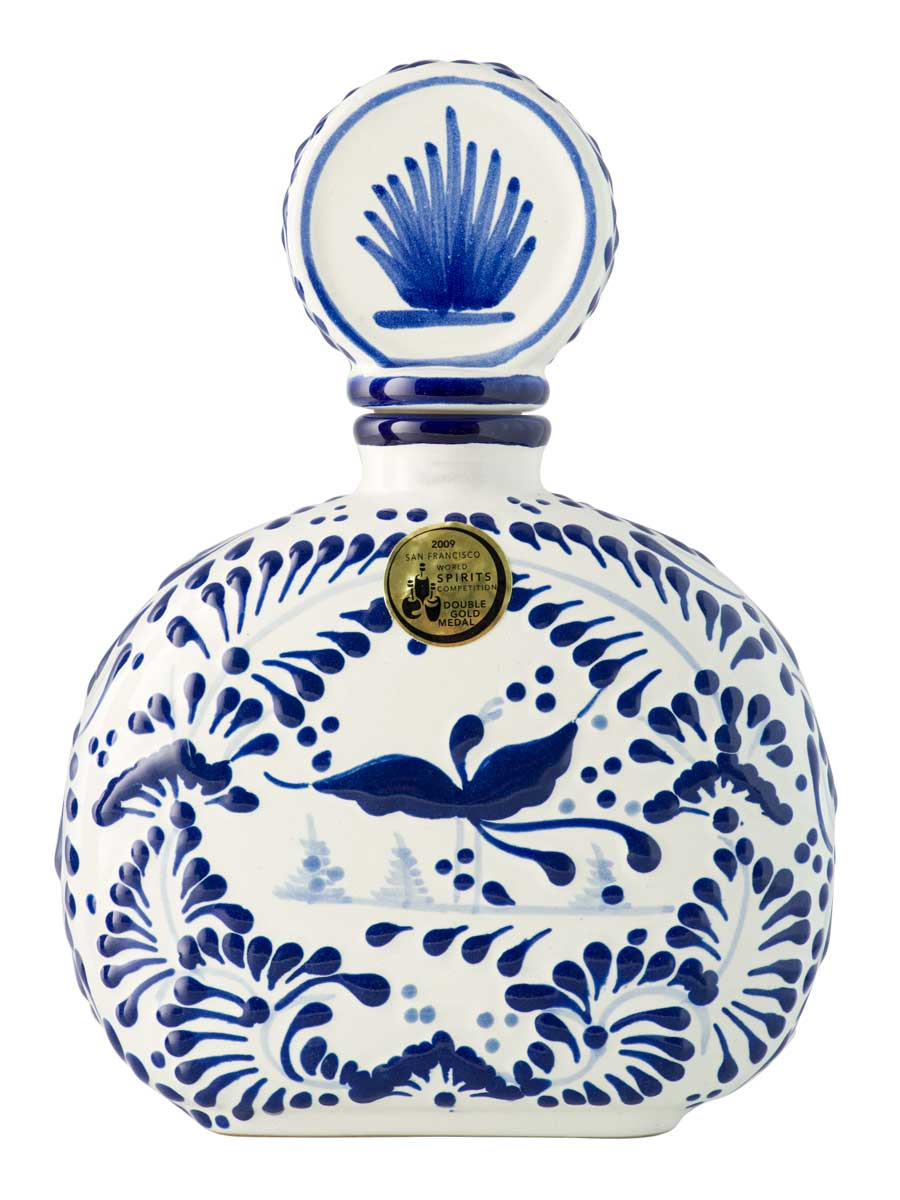Talavera Blue Bottle